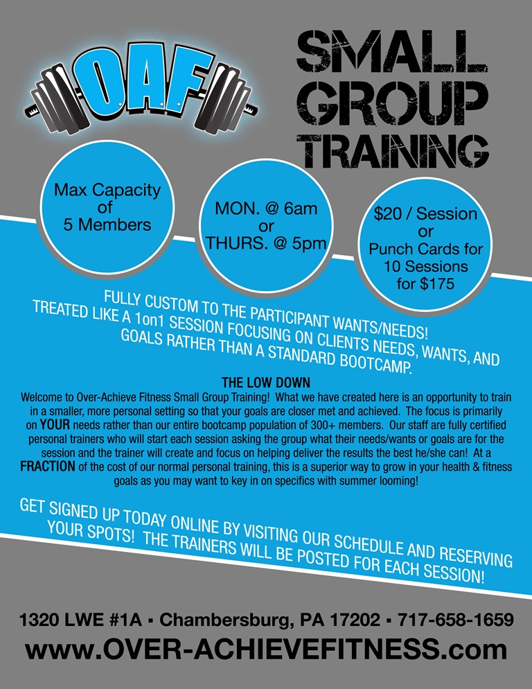 Small Group Training – Over-Achieve Fitness